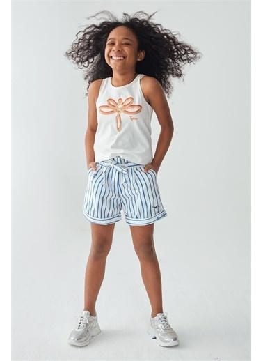 Tyess Kız Çocuk Beyaz Atlet Beyaz